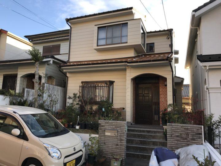 名古屋市名東区 外壁塗装工事、屋根漆喰工事
