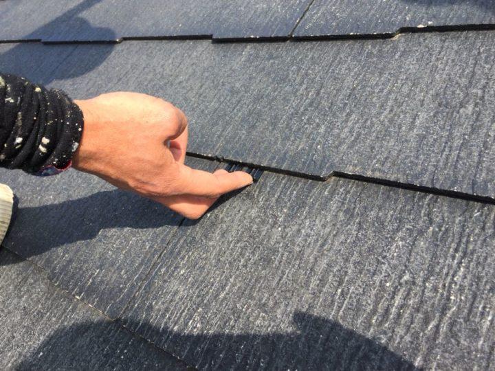 屋根タスペーサ挿入