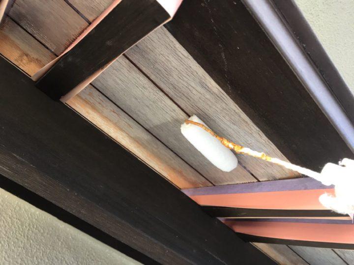 木部塗布作業