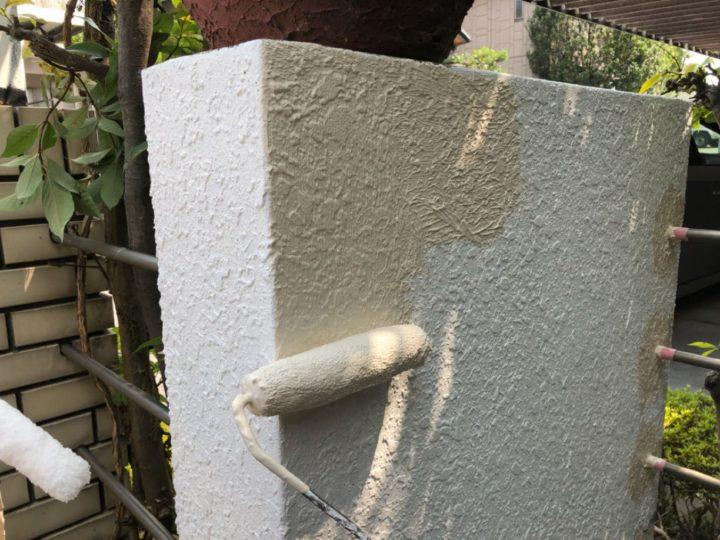 門塀塗装作業