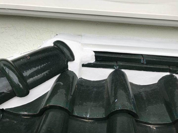 屋根:漆喰工事完工