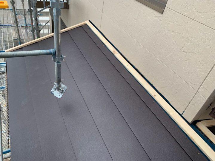 下屋根 屋根材設置