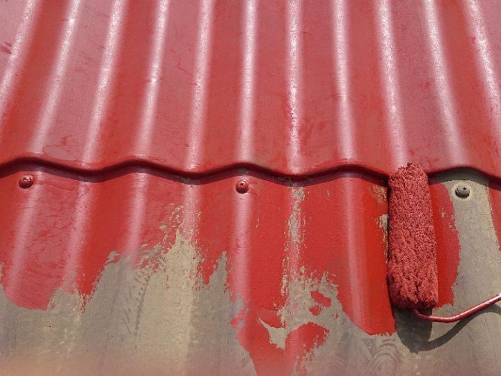屋根下塗り工程