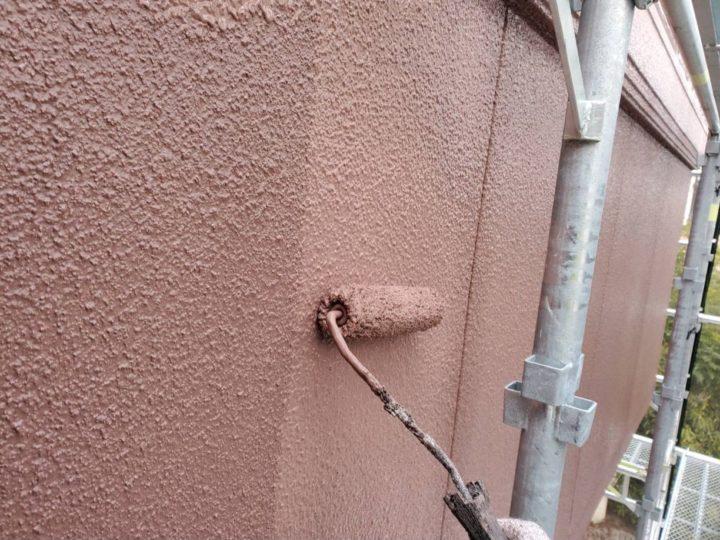 外壁:上塗り作業