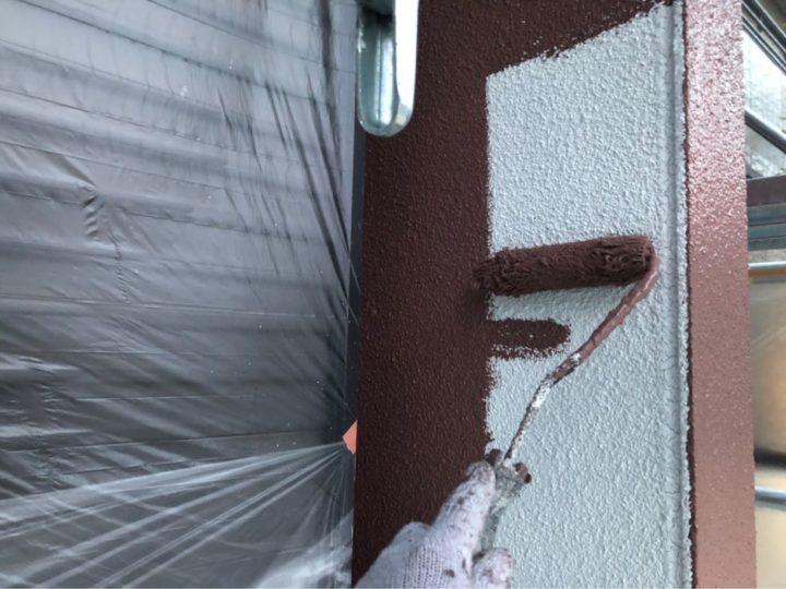 外壁:中塗り作業