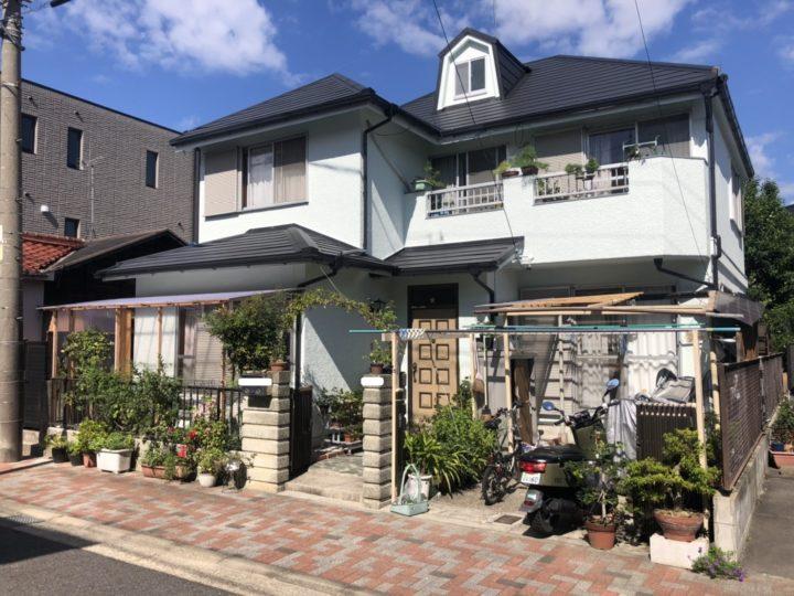 名古屋市千種区 外壁塗装工事、屋根カバー工事