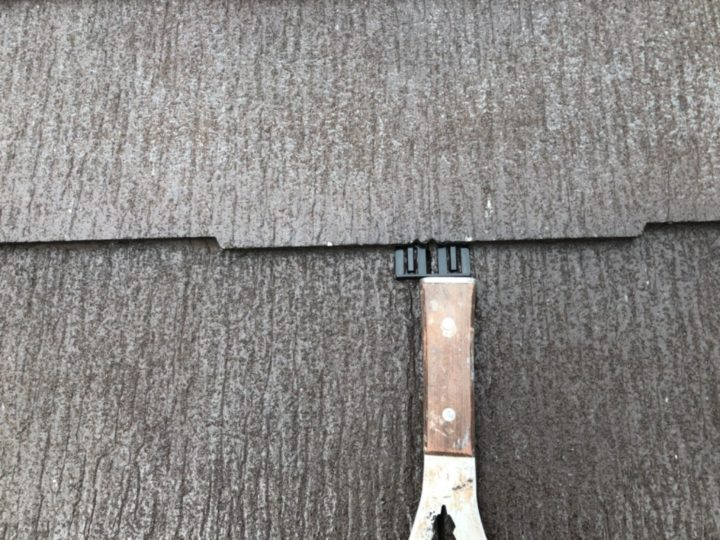 屋根 タスペーサー挿入