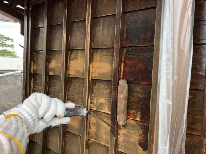 木部 塗装作業