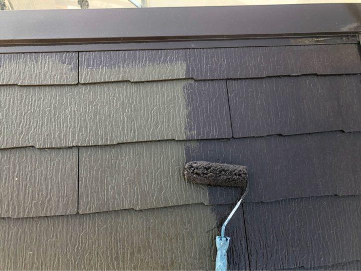 屋根 塗装作業