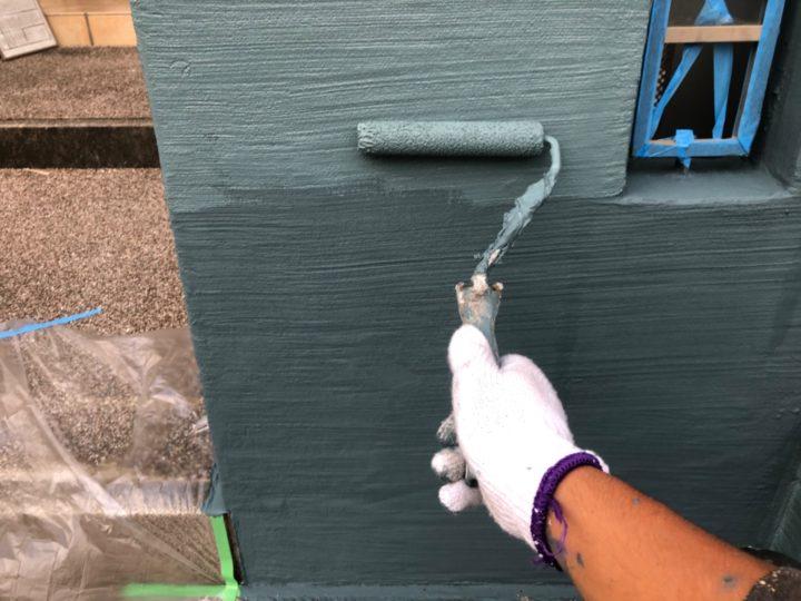門塀 塗装作業