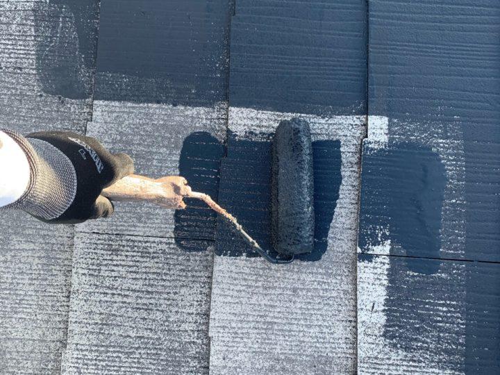 屋根 塗布作業