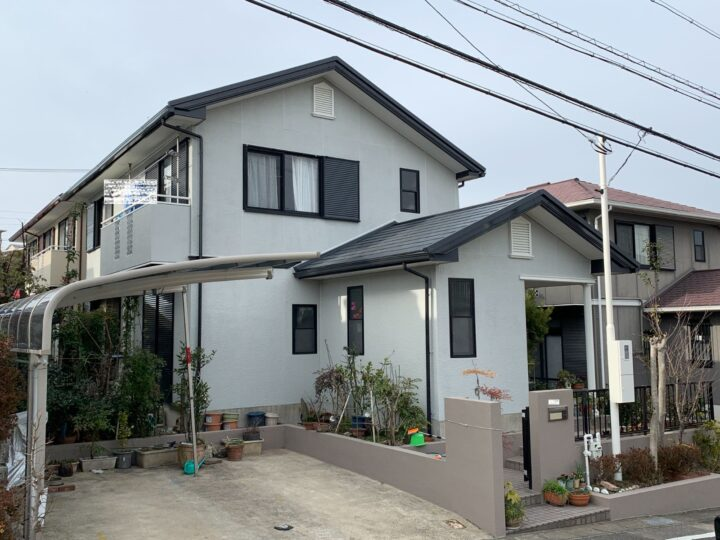 瀬戸市 外壁塗装工事、屋根カバー工事