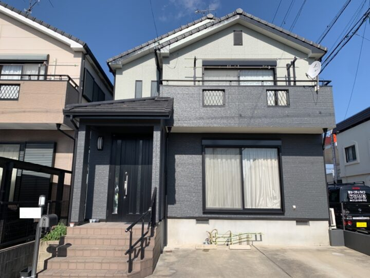 名古屋市守山区 外壁塗装工事、ベランダ防水工事