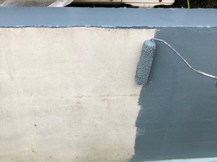 塀 塗装作業
