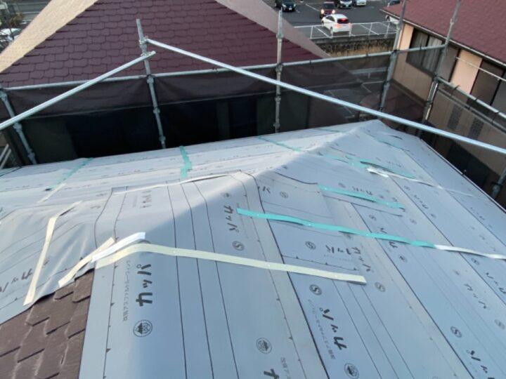 屋根 ルーフィング設置