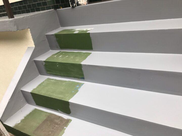 階段 塗装工事