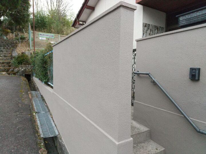 尾張旭市 塀塗装工事