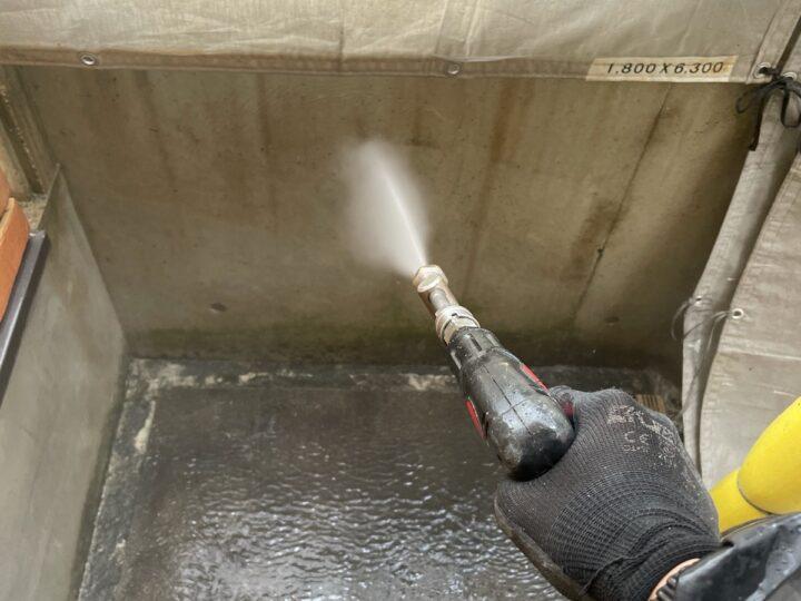 ベランダ 高圧洗浄