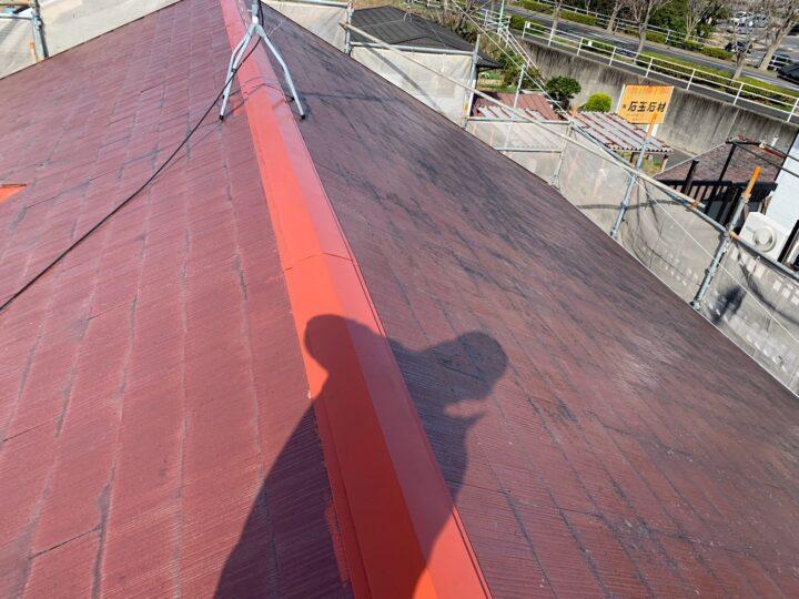 屋根 鈑金部 錆止め塗布
