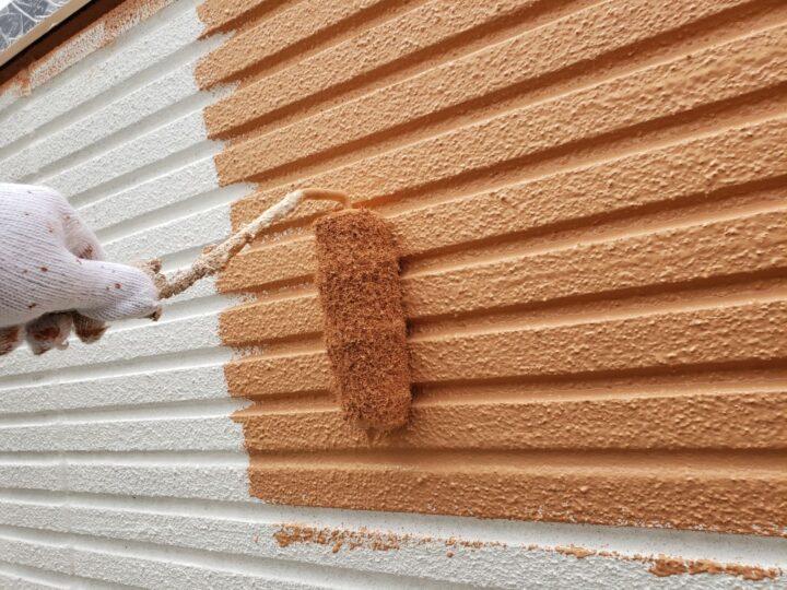 外壁 中塗作業