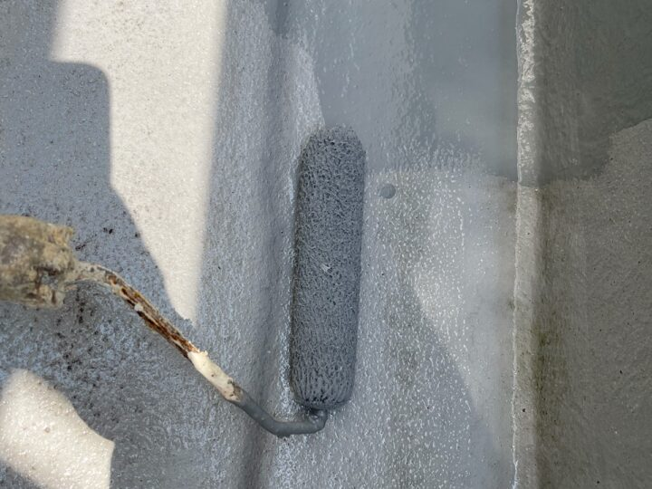 ベランダ防水作業