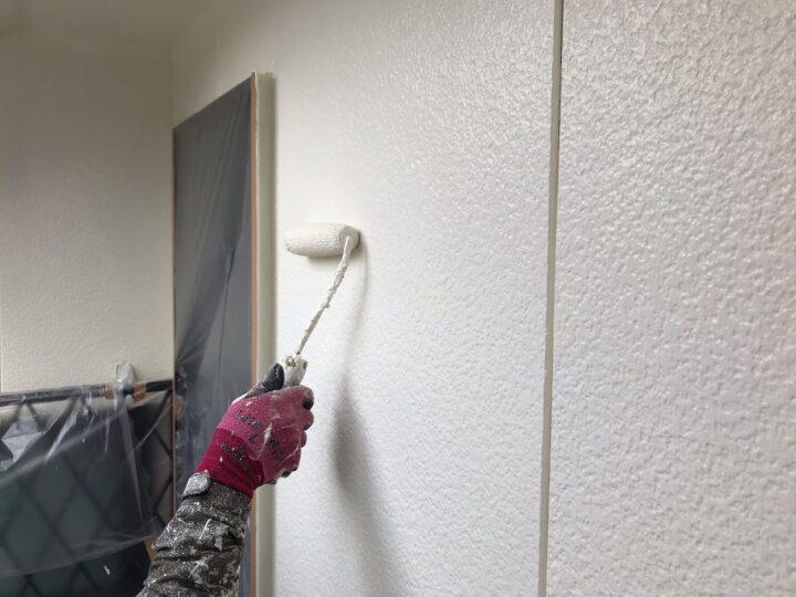 外壁 中塗り作業