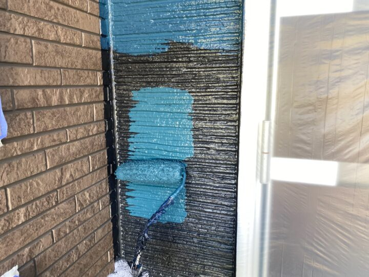外壁 上塗り作業